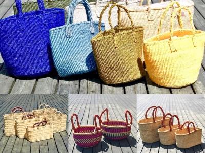 夏アイテム!サイザル麻の繊維を編み込んで作られたサイザルバッグが登場です